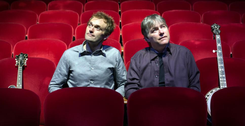Esteemed acoustic artists and multiple Grammy winners Chris Thile, left, and Béla Fleck are headlining Music Fest America at Ives Concert Park on the Western Connecticut State University westside campus Saturday, September 10. In a ticketed…
