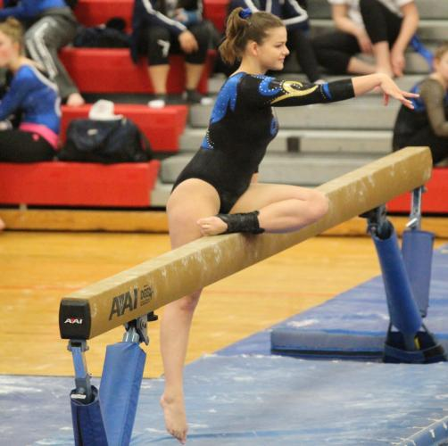 Maddie Jannott is a captain and all around gymnast. (Chris Jannott photo)