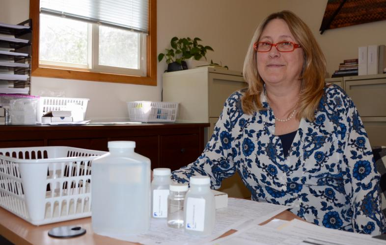 """Gisele Davis is the """"voice and face"""" of Aqua Environmental Lab, which is located at the intersection of Church Hill and Commerce Roads. As office manager, it is she who greets visitors and clients, as well as overseeing many of the business…"""