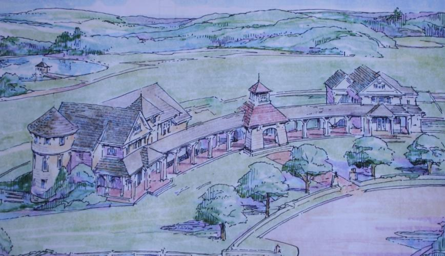 This rendering shows the planned Catherine Violet Hubbard Animal Sanctuary at Fairfield Hills. The Planning and Zoning Commission approved the project in October. The sanctuary would memorialize one of the victims of 12/14.