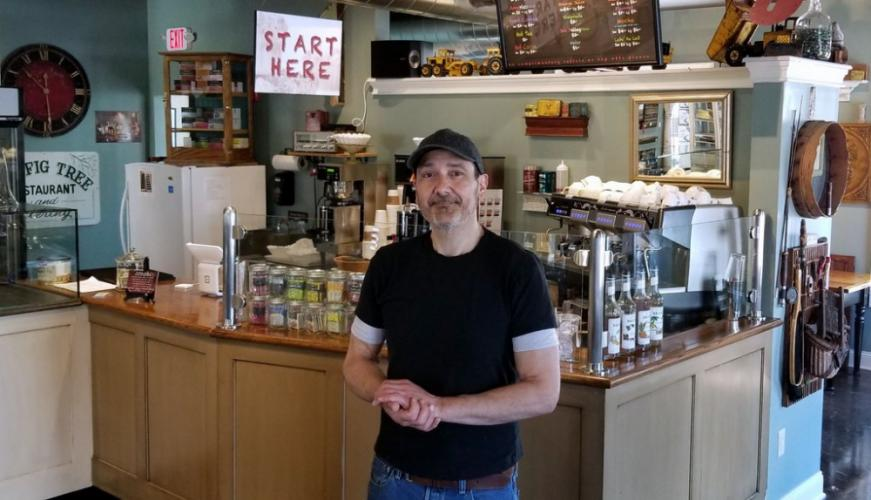 Frank Navone, owner, chef, and creative director of the Panificio Navona bakery cafe is pictured in the recently relocated establishment. His move from Bethel to the Village at Lexington Gardens at 32 Church Hill Road provides an opportunity for Mr…