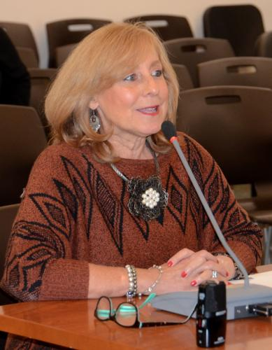 As part of a brief farewell celebration at the November 15 Legislative Council, Newtown Poet Laureate Lisa Schwartz read a piece she created to honor outgoing First Selectman Pat Llodra who is leaving office November 30.