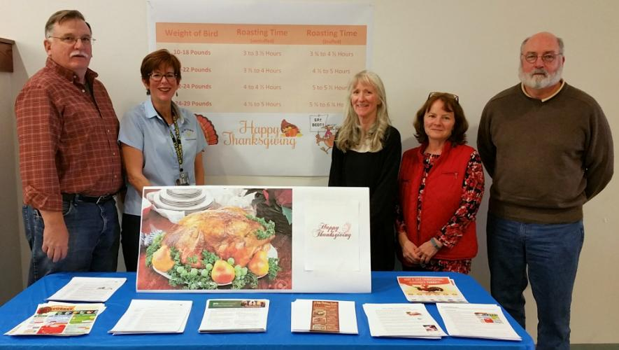 The staff of Newtown Health District have set up a Thanksgiving and holiday food preparation safety station outside their offices at Newtown Municipal Center, to provide critical details to help protect residents and their guests from foodborne…