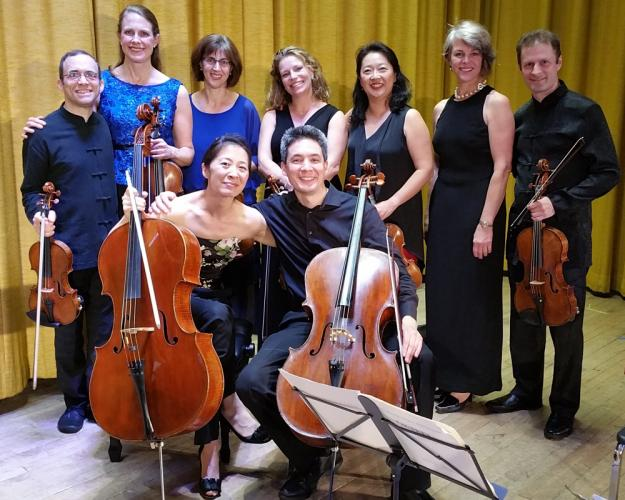 Patrons attending the Newtown Friends of Music Farewell Concert at Edmond Town Hall October 15 were treated to the Brentano String Quartet featuring Serena Canin, Mark Steinberg, Misha Amory, and Nina Lee, and the Daedalus Quartet featuring Min…