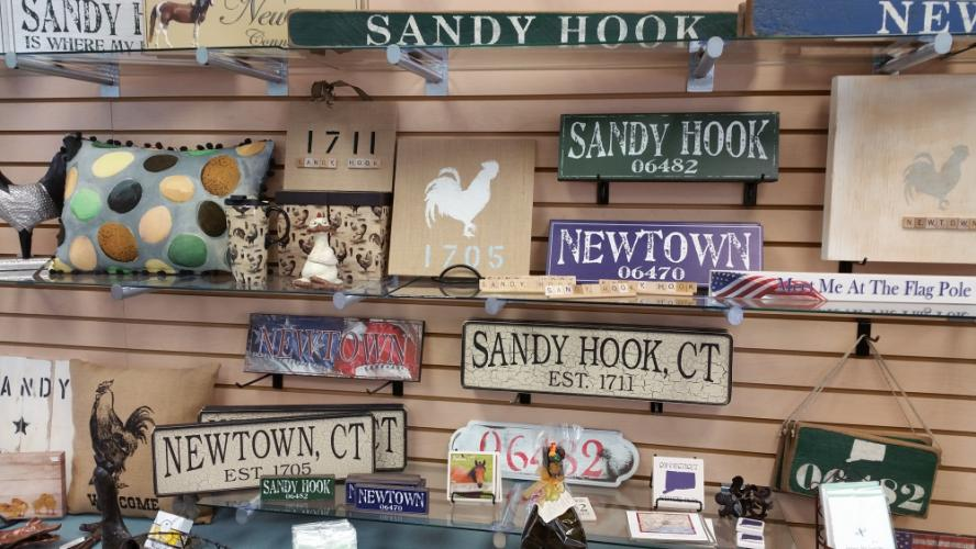 Show you are Newtown (or Sandy Hook) proud with one or more of these localized home decor accents, including a few local designs by local artisan Melissa Sorrentino, now available at The Gift Box at 14 Church Hill Road.