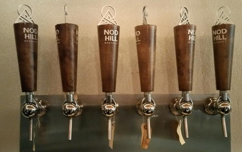 Nod Hill Brewery benefits from solid branding thanks to designer Brian Steely, who created all Nod Hill's visual design, including the brewery's tap heads, logo and can artwork.
