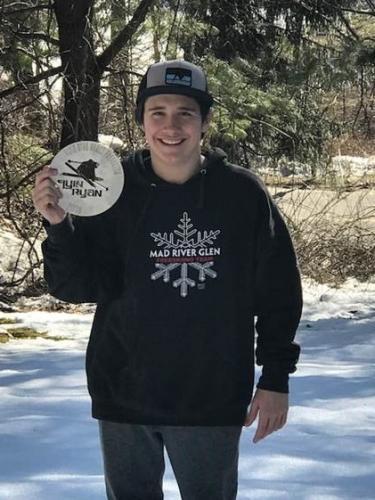 Extreme skier Jordan Conrad won the Flyin Ryan Spirit Award at Jay Peak in Vermont.
