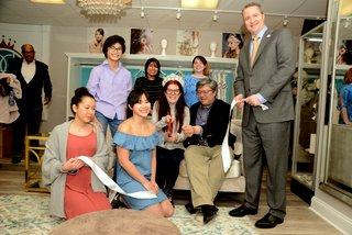 A ribbon-cutting ceremony with the Newtown Chamber of Commerce and first selectman took place on Friday, February 23, at The Persnickety Bride, 224 South Main Street. Seated and standing around a couch in the center of the shop, and ceremoniously…