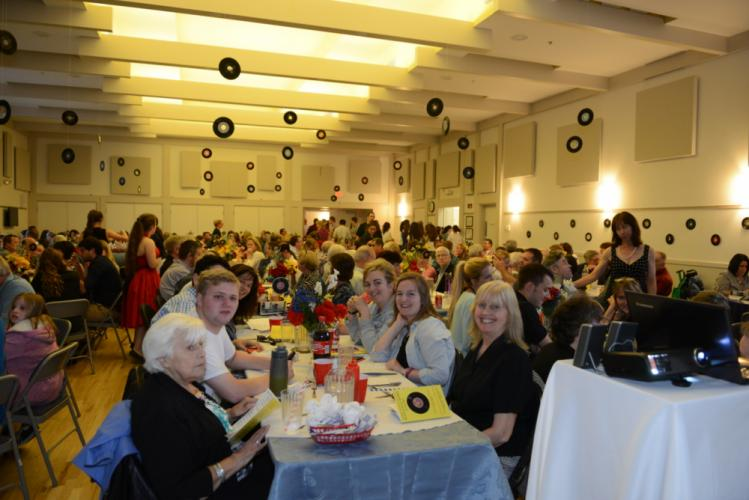 "Newtown Congregational Church's Great Room was filled to capacity for ""A Celebration of Rock & Roll Music.""  (Bee Photo, Bobowick)"