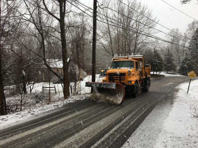 Joe Tani, a supervisor at Newtown's Highway Department, said his plow crews all worked through the night battling occasional white-out conditions and roads that were sometimes choked with downed trees or wires. Crews continued to work clearing local…
