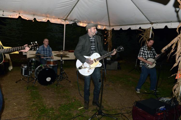A folk and blue grass band, Union Rail kept guests entertained, and some dancing, Saturday, October 28, during the Castle Hill Farm 90-year anniversary celebration. --Bee Photo, Bobowick