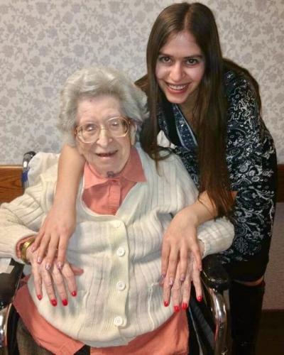 Over the course of nearly two decades, grandmother Anna and granddaughter Lia Levitt became best friends and did many activities together, like getting manicures as pictured here in 2011. (photo courtesy of Lia Levitt)