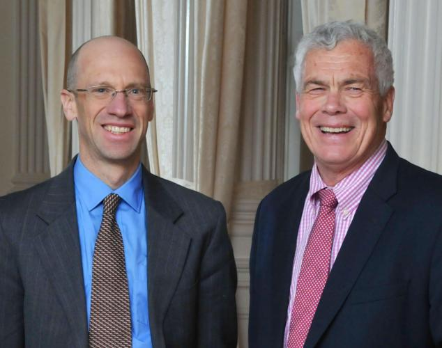 Oz Griebel, the outgoing chief executive of the MetroHartford Alliance, is running for governor in 2018 along with Newtown resident and attorney Monte Frank as his running-mate for lieutenant governor. The pair will run as independents. (Gary Lewis photo)