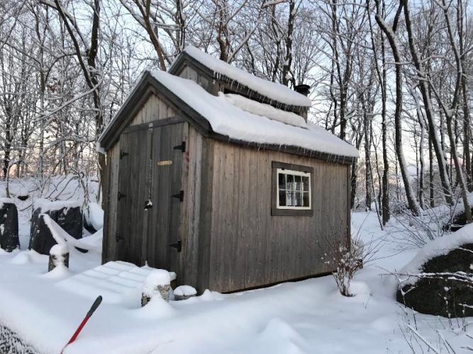 Clare Harrison of Windover Farm on Mount Nebo Road creates her maple syrup in a sugar shack on the property. (photo courtesy Clare Harrison)