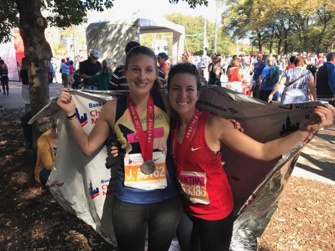 NHS grads,  2006 and 2010, Katie Rose (crevier) Grigg and Samantha Kent were among Newtown residents running in the Chicago Marathon last weekend. Newtown runner Kevin Hoyt outran them...