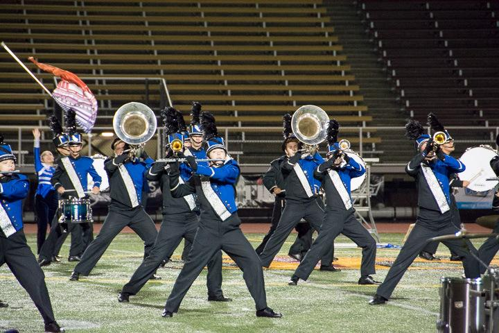 NHS Marching Band members perform at the US Bands New England States Championship on October 28. (Lynnae Rau photo)