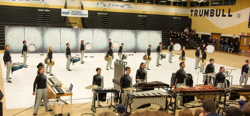 Newtown High School Winter Percussion took first place in its division at the 2018 WGI Trumbull Percussion Regional competition on March 3 at Trumbull High School.(Lynnae Rau photo)