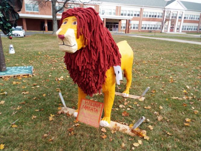 "The ""Hakuna Matata - Lion King"" scarecrow created by Elise Beier, Riley Burns, Sarah Nowacki, and Kate Petersen came in first place in the 2016 contest.  (Bee file photo)"