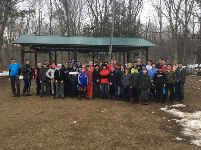 By Saturday morning of the Newtown Boy Scout camporee weekend, when this photo was taken, nearly 50 Boy Scouts were at Hoyt Scout Reservation in Redding. Eventually, 72 Scouts and two dozen adult leaders participated in the historic event that…