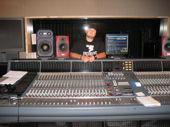 Former Newtown resident Matt Wheeler is pictured on the job at a Nashville recording studio. The trained audio and recording engineer saw a number of projects he worked on win Country Music Association (CMA) Awards on November 5. Mr Wheeler was…