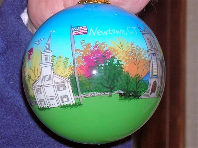 Ornaments created by the Art Studio Company are selling for $20 at Julie Allen Bridals and Queen Street Gifts & Treats to raise money for the Newtown Lions Club's Sandy Hook Elementary Fund.