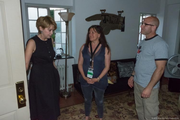Jane Pauley chats with Jennifer Hensel and Dr Jeremy Richman before the June 19 BrainStorm event.  (Phil Keane photo)