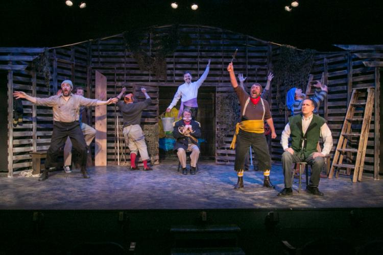 A terrific construction of the hold of the ship with various moving parts to set scenes elsewhere provides a great backdrop for an extremely enjoyable Peter and the Starcatcher, which will wrap at TheatreWorks New Milford after three performances…
