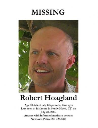 This poster of Robert Hoagland of Sandy Hook was widely circulated following his mysterious disappearance in July 2013. Police are still seeking to learn his whereabouts, and family members remain hopeful that he will be located.