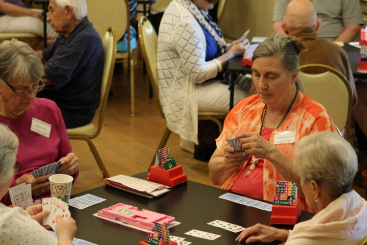 Virginia Bertram was among those participating in the morning session of The Longest Day, an Alzheimer's Association fundraiser hosted locally on June 21 by Newtown Bridge Club.  (Bee Photo, Hicks)