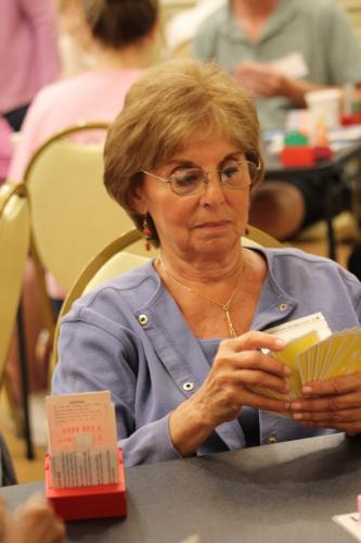 Marsha Scherr was among those playing in the morning session of The Longest Day, an Alzheimer's Association fundraiser hosted locally by Newtown Bridge Club on June 21.  (Bee Photo, Hicks)
