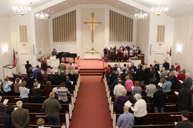 """Approximately 100 Newtown residents and neighbors gathered Sunday evening in the sanctuary for this year's Interfaith Thanksgiving Gathering. Following a theme of """"Celebrating Our Unity In Diversity,"""" leaders of local houses of worship encouraged…"""