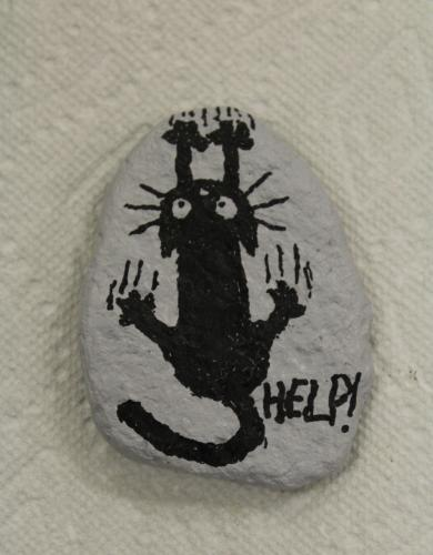 Markers are often used to create details on rocks decorated by Newtown CT Rocks.  (Bee Photo, Hicks)