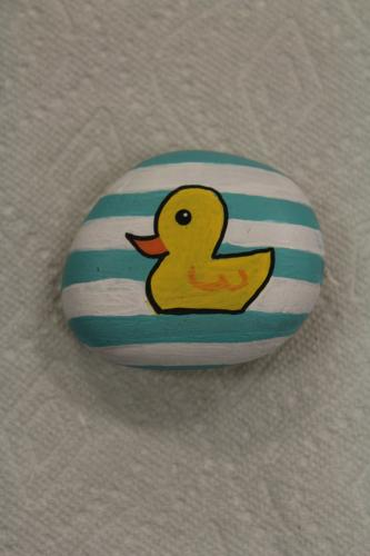 Sue Corey, who recently joined Newtown Lions Club, painted this rock with her husband Kevin in mind. Mr Corey has been a member of the Newtown Lions for a number of years, and has been very active in the club's Great Pootatuck Duck Race since its…