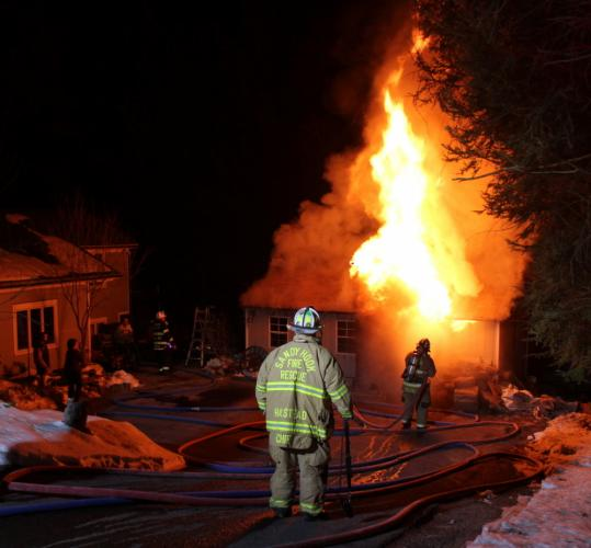 Firefighters arriving at 24 Poplar Drive shortly before 10 pm on Thursday, March 24, encountered a small structure fully engulfed in flames. The town's five volunteer fire companies were dispatched to the incident. Sandy Hook Volunteer Fire & Rescue…