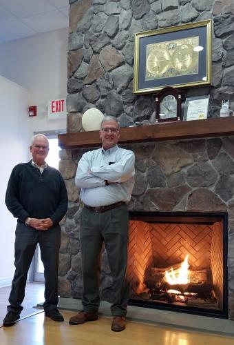 Leahy's Fuels of Danbury, under the ownership of Jack Stetson, left, with Sandy Hook resident and company President Stephen Rosentel at the helm, celebrated its 100th Anniversary on Wednesday, November 15. They are pictured in front of one of the…