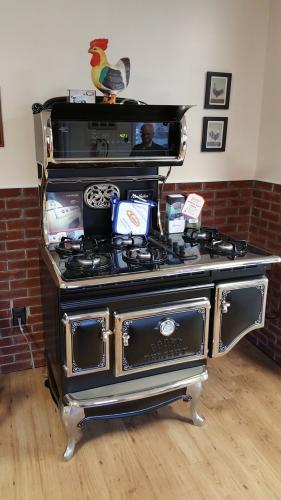 Look fast and you may miss the digital readout and contemporary features on this Heartland stove. Despite its nearly $8,000 price tag, Leahy's Fuels has sold more than a half-dozen of these appliances to customers looking for a modern cooking…