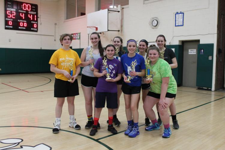 The girls from Post Up Malone were runner-up in the Senior League. (Laura Terry photo)