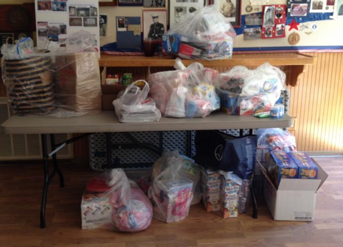 Generous community members donated needed items to a box located in the Bee lobby last month. The items will be sent to troops overseas by VFW Post 308.