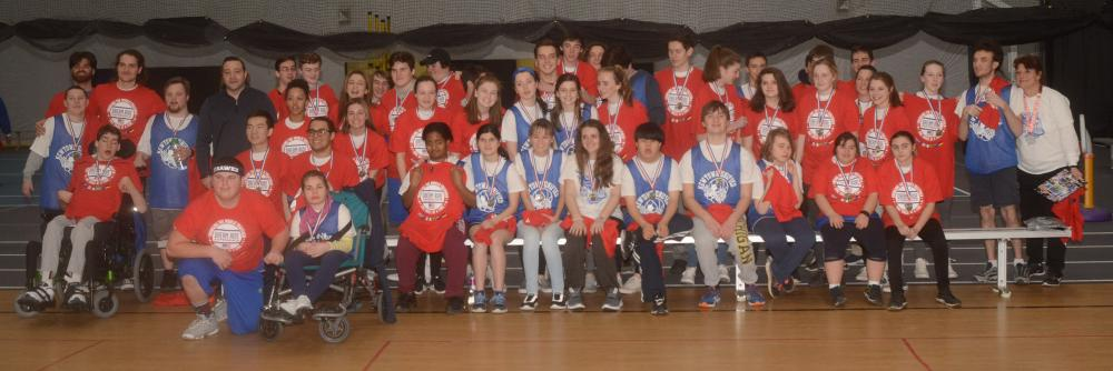 Newtown High's Unified Sports basketball team members are enjoying a fun-filled experience on the court this winter. (Bee Photo, Hutchison)