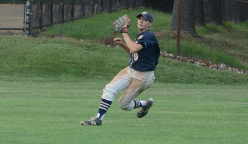 Rob Lombardo throws the ball in from right field. (Bee Photo, Hutchison)