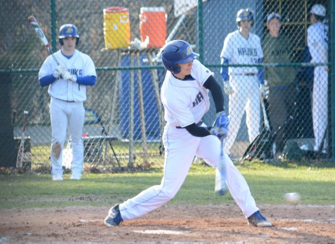 Eugene Citrano swings te bat. (Bee Photo, Hutchison)
