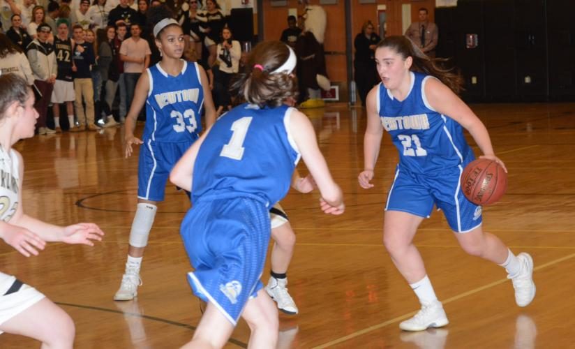 Nicki DaPra and the Hawks trimmed a 16-point deficit to five before falling to host Trumbull. (Bee Photo, Hutchison)