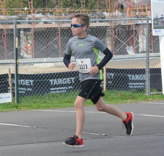 Timothy Basbagill, 11, was among the top ten runners. (Bee Photo, Hutchison)