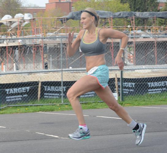 Tricia Collins-Fey was the second-fastest female and placed tenth overall. (Bee Photo, Hutchison)