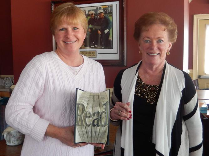The last time Nan Rossiter visited Newtown for an author program, nearly three dozen residents braved a snowstorm in order to meet and enjoy a light lunch with the Connecticut resident, shown with Marie Sturdevant during that February 2016 event…