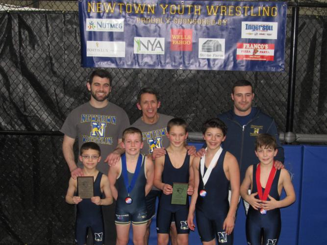 A team-record ten youth wrestlers competed in the New England championships on March 11. (Chris Stites photo)