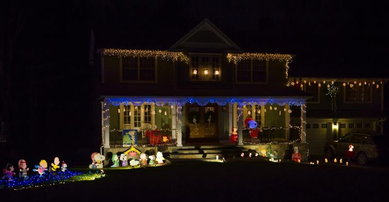 """The award for """"Best Theme"""" went to the outdoor decorations on view at 1 Bennetts Bridge Road."""