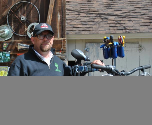 Sandy Hook Cyclery Owner Terrence Ford says there are a number of good road-riding loops available for bicyclers within town. The avid bicyclist also suggests visiting Fairfield Hills, where a number of options can be found.