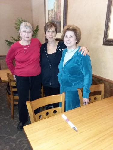 There was a plethora of Louises at the NCC Women's Fellowship meeting - Louise Baker, Louise Tambascio, and Louise Zierzow.