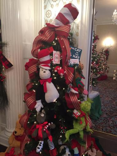 Designers from Fairfield County, Westchester County, and beyond have decorated trees - such as this one from a previous presentation -  ranging from 4 to 6½ feet tall, which will wind through the rooms, hallways, and grand staircase at…